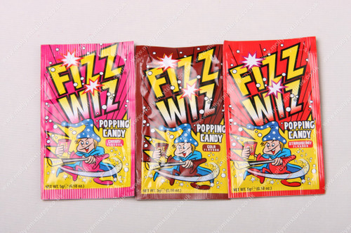 Fizz Wiz Popping Candy - Mix of Flavours, Retro sweets, cheap sweets, haribo, swizzel matlow, cadbury, sweet shop, boiled sweets, online sweet shop, uk sweet shop, a quarter of, quarter of, fudge sweets, toffee sweets, liquorice sweets, sweets and candy, mollys mixtures