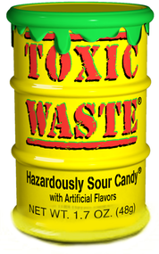 Toxic Waste Tub - Yellow - Pack of 12