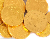 Milk Chocolate Coins - Gold (Approx 135 Loose Coins)