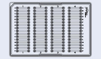 Straight 64-channel Microtiter Plate (P/N 10000320)