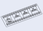 H-shaped Channel Mini-Luer Chip (P/N 10000265)