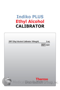 DRI Ethyl Alcohol Calibrator Indiko Plus 5mL 100 mg/dL 0241 | Medical Distribution Group