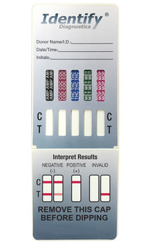 Identify Diagnostics 5 Panel Drug Test Dip Card - CLIA Waived