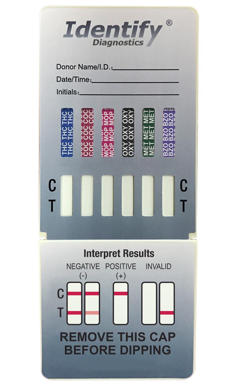 Identify Diagnostics 6 Panel Drug Test Dip Card - CLIA Waived