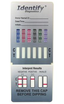Identify Diagnostics 6 Panel Drug Test Dip - CLIA Waived, FDA Approved