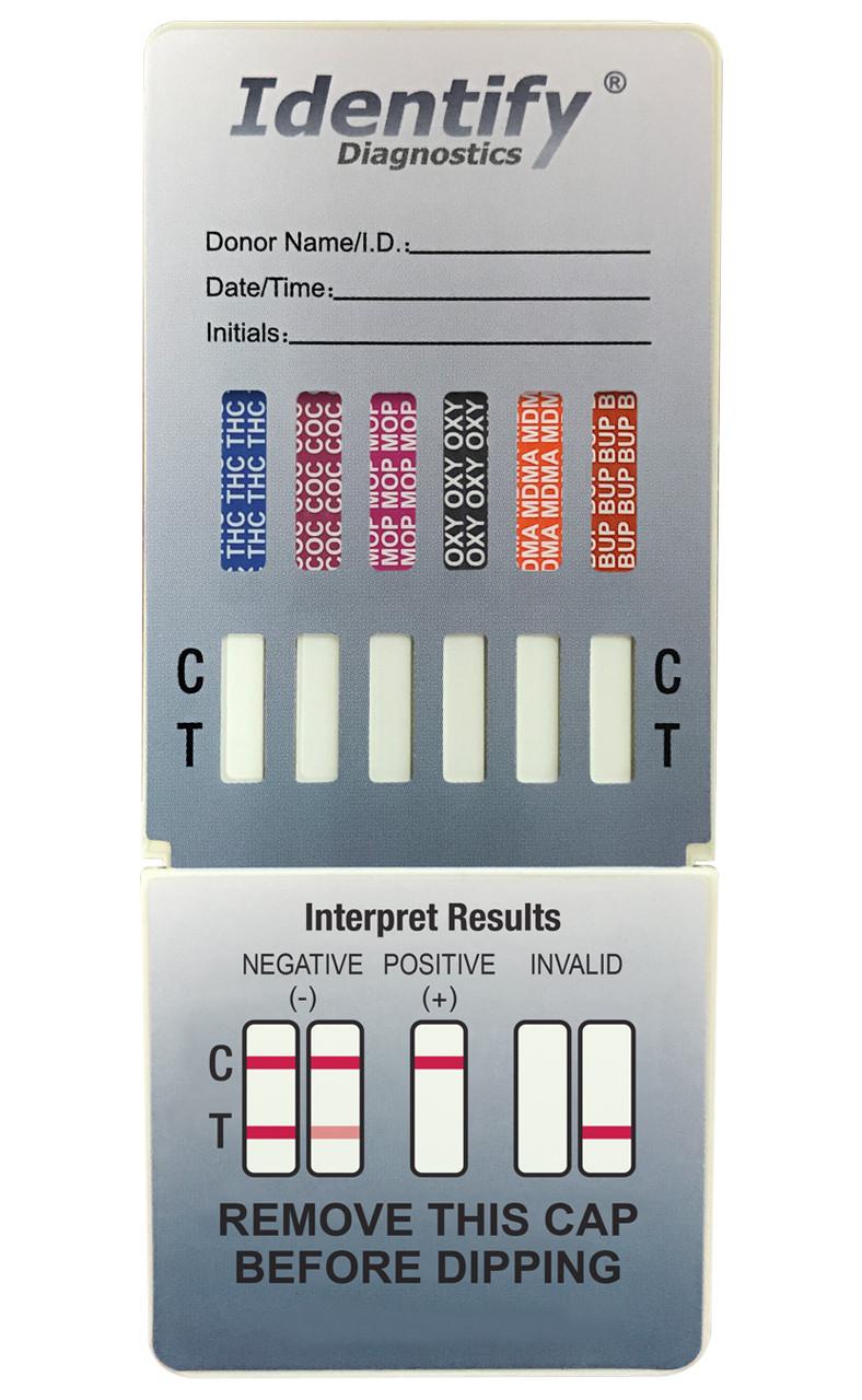 Identify Diagnostics 12 Panel Drug Test Dip Card - CLIA Waived