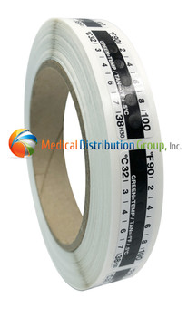Thermometer Temperature Strips by Globe Scientific - 500 strips per roll