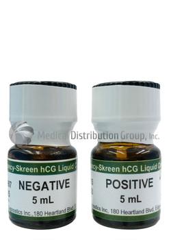 Negative & Positive Liquid Control Urine for hCG pregnancy tests - 2 Bottles at 5mL each