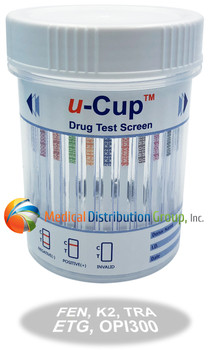 16 Panel Drug Test Cup with Fentanyl, ETG, K2, TRA, OPI2000 - U-CUP 2164 - Medical Distribution Group