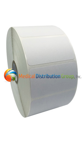 White Test Tube Labels - 1123125 - 2,100 stickers per roll