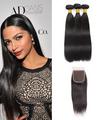 3 Bundles & Closure Straight Virgin Brazilian Hair