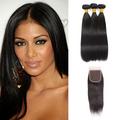 3 Bundles & Closure Straight Virgin Malaysian Hair