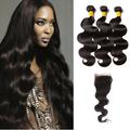 3 Bundles & Closure Body Wave Virgin Malaysian Hair