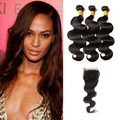 3 Bundles & Closure Body Wave Virgin Peruvian Hair