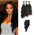 3 Bundles & Closure Wavy Virgin Malaysian Hair