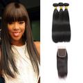 3 Bundles & Closure Straight Virgin Peruvian Hair