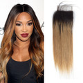 Ombre Straight Brazilian Lace Closure