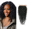 Kinky Curly Virgin Brazilian Lace Closure
