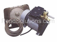 SCPA34W 1/4 HP Rocking Piston Pond Aeration Systems 1 Single Diffusers Quick Sink Tubing