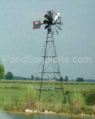 SCFLW16W 16' Four Leg Windmill Pond Aerator 100' Quick Sink & SCEPMD2 Diffuser
