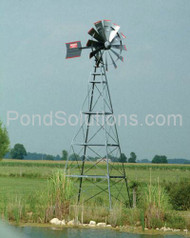 SCFLW20P 20' Four Leg Windmill Pond Aerator 100' Poly Tubing & SCEPMD2 Diffuser