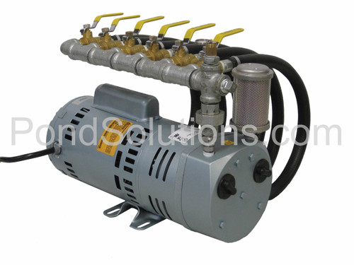 Rotary Vane Air Compressor Outlet Assembly, Four Valve Outlet