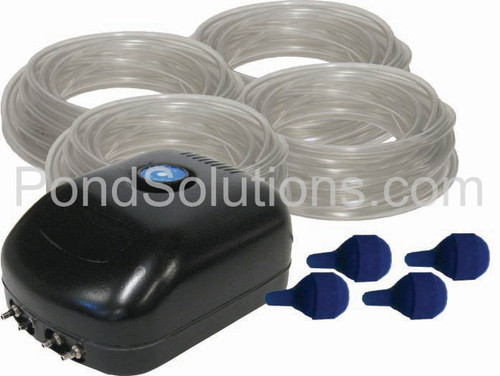 SCEPA4 Small Pond Aeration Kit for Ponds Up To 1500 Gallons, Quad Diffuser