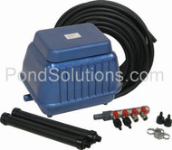 SCLA15N Medium Pond Aeration Kit For Ponds Up To 17,500 Gallons - Economy Linear Aeration Kits With Compressor SCEPW6