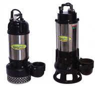 8000 GPH High Volume Submersible Waterfall Pump, 230 Volt, 1 HP, High Head Series, Max. 5.5 Amps