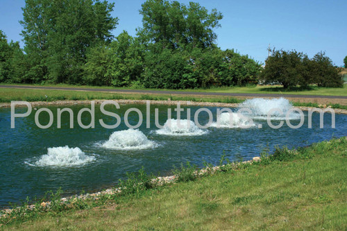 "SCAF5.1H 5 HP Kasco Surface Aerator, 100' Cord With Quick Disconnect, 5000 GPM, 230 Volts - Operates In As Little As 15"" Of Water"