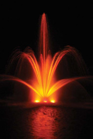 Floating Pond Fountain With Light Kit - (4) 75 Watt Lights, 50' Power Cord