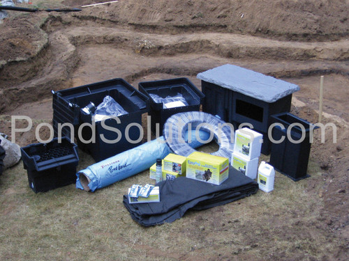 SCES16AFB Small Pond Kit System For 11' x 16' Pond - Pro-Series - With Small Skimmer