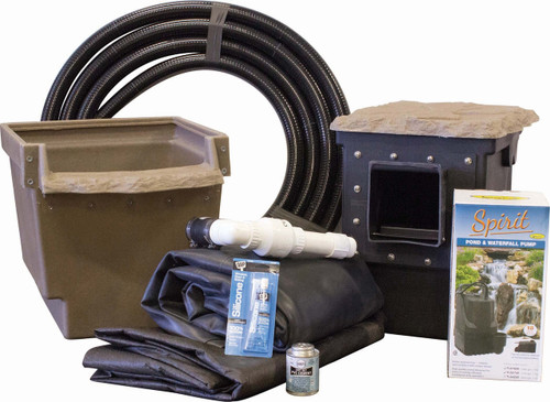 Mini Pond Kit System For 8' x 11' Pond - Pro-Series - With SCAT Filter and SCPSMFB Skimmer