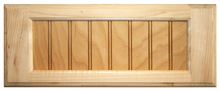 Maple 5-Piece Flat Beaded Panel Drawer Front
