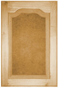 Raised Panel with Flat Arch Door -  Paint Grade Maple