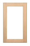 Single Panel Glass Pane Door - Paint Grade Maple