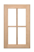 4 Panel Glass Pane Door - Paint Grade Maple