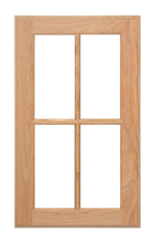 4 Panel Glass Pane Door - Oak