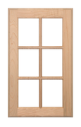6 Panel Glass Pane Door - Paint Grade Maple