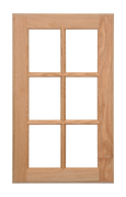 6 Panel Glass Pane Door - Oak