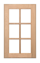 6 Panel Glass Pane Door - Stain Grade Maple