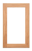 Single Panel Glass Pane Door - Cherry