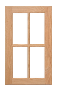 Four Panel Glass Pane Door - Cherry