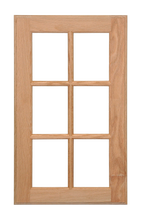 Six Panel Glass Pane Door - Cherry