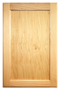 Stained Flat Panel Doors - Oak