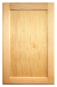 Stained Flat Panel Doors - Cherry