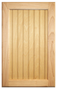 Stained Flat Beaded Panel Doors - Oak