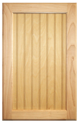 Stained Flat Beaded Panel Doors - Cherry