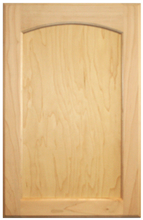 Stained Flat Panel with Arch Doors - Oak