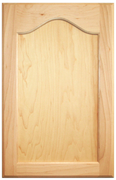 Stained Flat Panel with Cathedral Doors - Maple